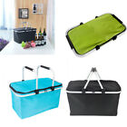 Portable Picnic Lunch Thermal Insulated Bag Ice Cooler Box Storage Basket Tote