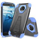 For Motorola Moto Z2 Force Z2 Play Armor Case Cover Stand +Tempered Glass Screen