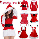 Sexy Santa Womens Outfit Ladies Miss Mrs Claus Fancy Dress Costume Christmas TFS