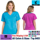 Med Couture Scrubs EZ-FLEX Women&#039;s Classic V-Neck Signature 3 Pocket Top(8403) <br/> 8403 / Free Shipping / Free Gift