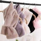 US Womens Rabbit Fur Scarf Shawl Collar Neck Stole Cape Scarves Warm Scarf Wrap