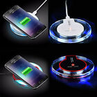Qi Wireless Fast Charger Charging Pad Mat Dock Stand Holder Cable for Cell Phone