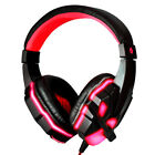 LED 3.5mm Cool Surround Stereo Gaming Headset Headband Headphone with Mic for PC