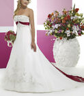 Wedding Dresses Stain Embroidery White Ivory Bridal Dress Custom all size