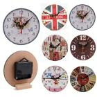 New Prints Pattern Creative Vintage Style Living Room Bedroom Clock K0E1