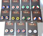1  PAIR OF FLAG, NATIONAL EMBLEM END PLUGS