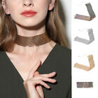 Yoocart Women Sequins Statement Hollow Choker Wide Necklace Party Bling Jewelry