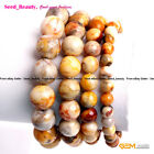 Natural Crazy Lace Agate Stone Beads Healing Beaded Jewelry Elastic Bracelet 7""