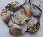 """27x40mm 23x35mm 20x30mm Natural Agate Drop Shape Loose Beads 13"""""""