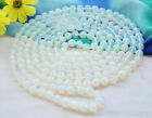 8MM 10mm Round Faceted Sri Lanka Moonstone Gemstone Necklace 18-100'' AAA