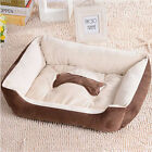 Super Warm Soft Microvelvet Puppy Pets Dog Cat Bed Basket Nest Mat Waterproof UK