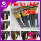 "20"" Marley Braids Kinky Afro Twist Rasta Crochet Synthetic Hair Extensions 100g"