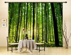 3D Forest Trees Blockout Photo Curtain Printing Curtains Drapes Fabric Window AU