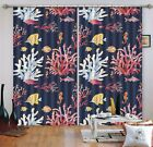 3D Coral Fish 1 Blockout Photo Curtain Printing Curtains Drapes Fabric Window AU