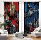 3D Kids Heroes Blockout Photo Curtain Printing Curtains Drapes Fabric Window AU