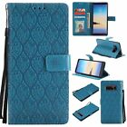 Flip Rattan Stand Leather Wallet Case Cover For Samsung Galaxy S3 S4 S5 S6 S7 S8