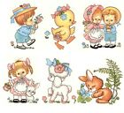 Easter Children Lamb Chick Select-A-Size Waterslide Ceramic Decals Xx image