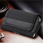 For Apple iPhone 8 8 Plus Horizontal Leather Pouch Case Cover Belt Clip Holster
