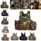 Tactical Military CS Molle Waistcoat Combat Assault Plate Carrier Vest&bags