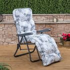 Garden Relaxer Chair - Charcoal Adjustable Frame with Classic Cushion