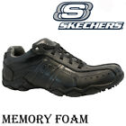 MENS SKECHERS LEATHER RELAXED FIT MEMORY FOAM WALKING ANKLE TRAINERS SHOES SIZE