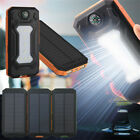 DIY Waterproof 300000mAh Power Bank USB Solar Charger Case + LED Without Battery