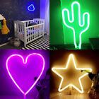 1PC Creative Indoor Night Lights LED Neon Sign Table Lamp Gift Cute Fashion
