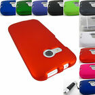 FOR HTC ONE REMIX/MINI II 2 HARD SHELL SNAP-ON CASE COVER ACCESSORY+STYLUS/PEN