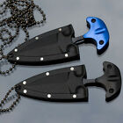 New EDC Mini Double Edge Dagger Survival Fixed Blade Neck Knife Drop Point Blade