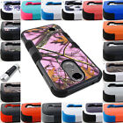 FOR LG PHONE MODELS 3-PIECE HYBRID RUGGED IMPACT CASE RUBBER SKIN COVER+STYLUS