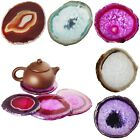Irregular Polished Agate Crystal Quartz Slice Ceramic Teapot Mat Table Decor Pad
