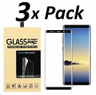 Samsung Galaxy S9 S8 Plus Note 8 9 4D Full Cover Tempered Glass Screen Protector <br/> CASE FRIENDLY✔Choice of 1, 2 or 3-Pack ✔SHIPS FROM USA