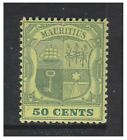 Mauritius - 1902, 50c Dull & Deep Green on Yellow stamp - Mint - SG 152