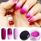 Hot Thermochromic Pigment Thermal Color Change Nail Art Gradient Powder Striking