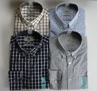 Ex M&S REGULAR FIT PEACHED COTTON BUTTON DOWN CHECKED SHIRT S-XXL