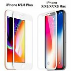 For iPhone X 7 8 Plus Xs Max XR Full Coverage Tempered Glass Screen Protector  фото