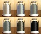 Hemingworth Embroidery Threadset #45-6 SHADES OF GRAY-6 SPOOLS + BONUS Designs
