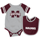 Mississippi State Bulldogs Colosseum Roll-Out Infant One Piece and Bib Set