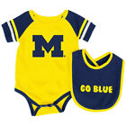 Michigan Wolverines Colosseum Roll-Out Infant One Piece Outfit and Bib Set