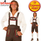 CA445 Men Beer Garden Bavarian German Lederhosen Oktoberfest Octoberfest Costume