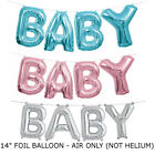 BABY SHOWER Foil Balloon BOY GIRL Hanging banner with FREE RIBBON UK
