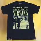 New Nirvana St. Andrews Hall Mens 1991 Concert Vintage T-Shirt image