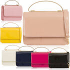 Top Handle Patent Leather Women Satchel Small Shoulder Cross Body Clutch Handbag