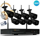 [Audio CCTV System] 8ch wireless camera system home wifi security indoor outdoor