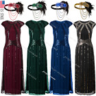 1920s Flapper Gatsby Costume Formal Evening Cocktail Maxi Dress Gown Plus Size