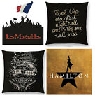 LYRICS HAMILTON LES MISERABLES BROADWAY MUSICALS CUSHION COVER SINGLE SIDE WOVEN