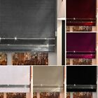 VELVET CRUSHED DECORATIVE BLING ROLLER BLINDS WINDOW BLIND Extra Wide Easy Fit