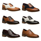 London Brogues Gatsby Mens Brown Leather Wingtip Brogue Formal Shoes Size 7-12