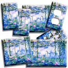 WATER LILIES CLAUDE MONET PAINTING LIGHT SWITCH OUTLET WALL PLATE ROOM ART DECOR