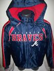 ATLANTA BRAVES Winter Jacket Parka Fleece Lining BLUE / RED S, M, L, XL, 3X on Ebay